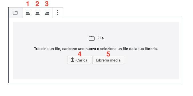 menu file Gutenberg