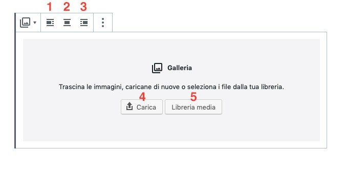 menu galleria Gutenberg