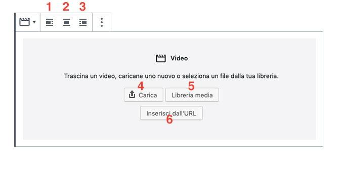 menu video Gutenberg