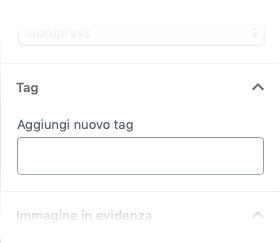 opzioni tag